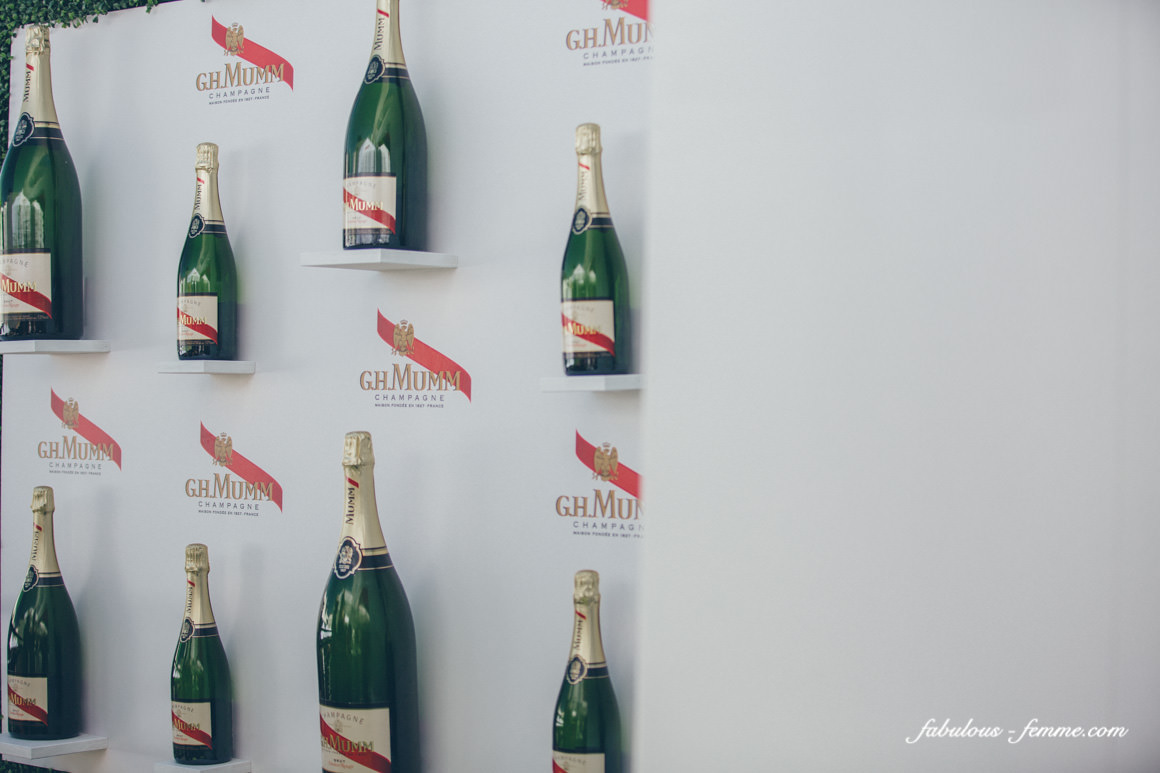 mumm champagne bottles