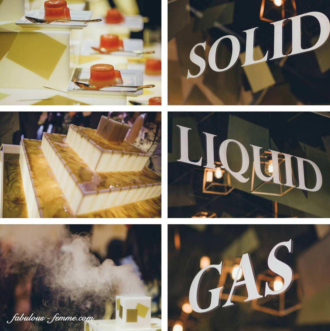 serving of liquid, gas and solid treats
