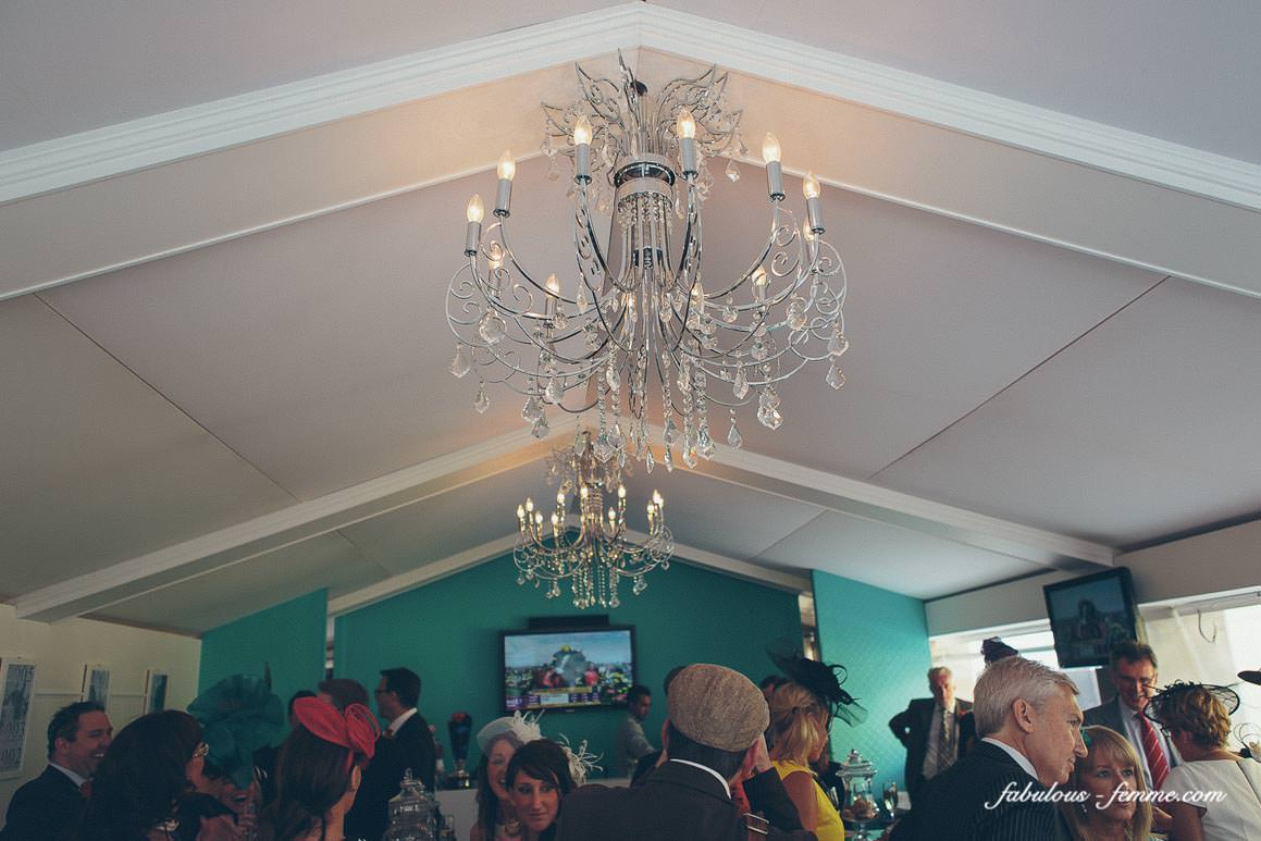 chandelier in hilton marquee