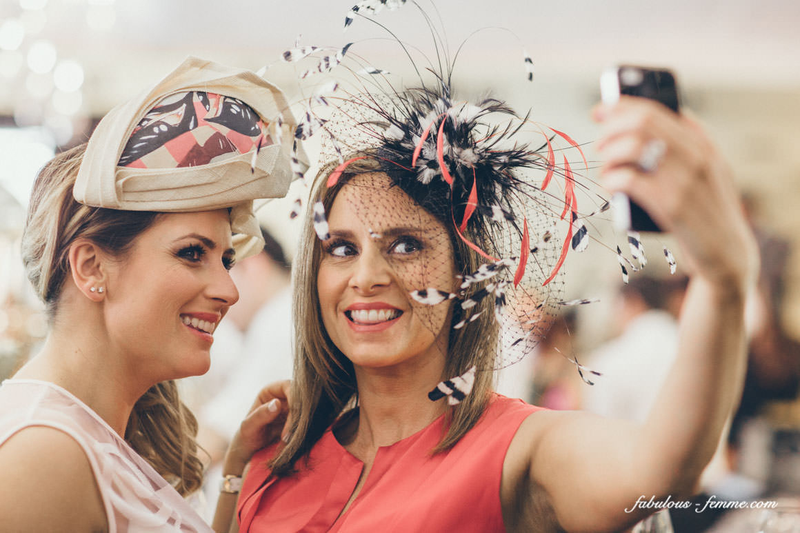 Girls taking selfie at Melbourne Cup