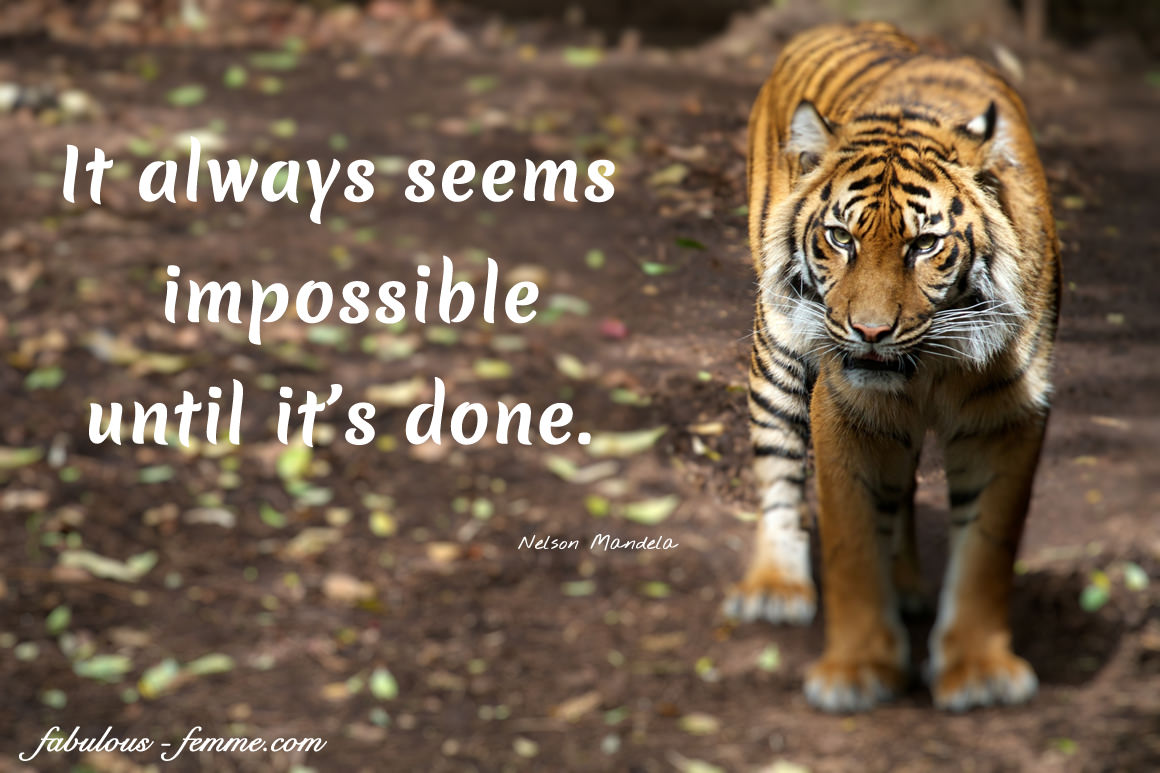 Nelson Mandela Quote - It always seems impossible until it's done