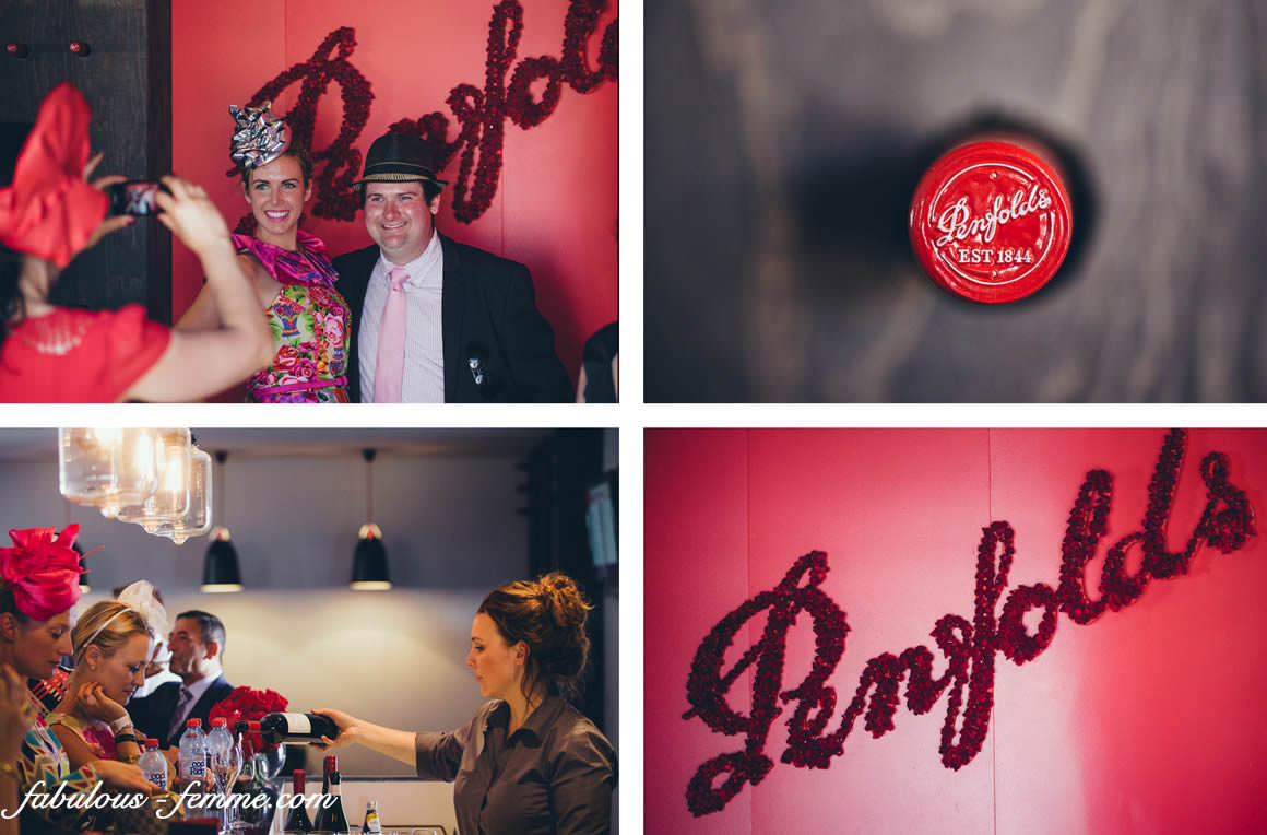 penfolds logos and red carpet
