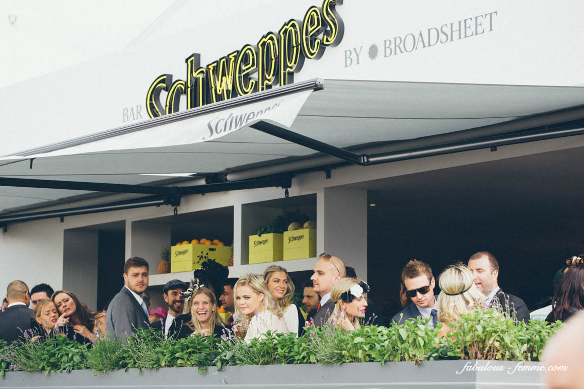 outside balcony of schweppes marquee