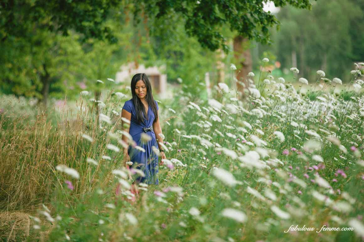 girl in flower fields