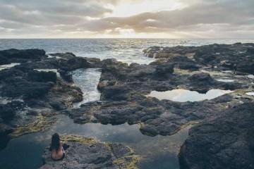 mermaid at sunset - near melbourne - mornington peninsula - creative photography for melbourne blog