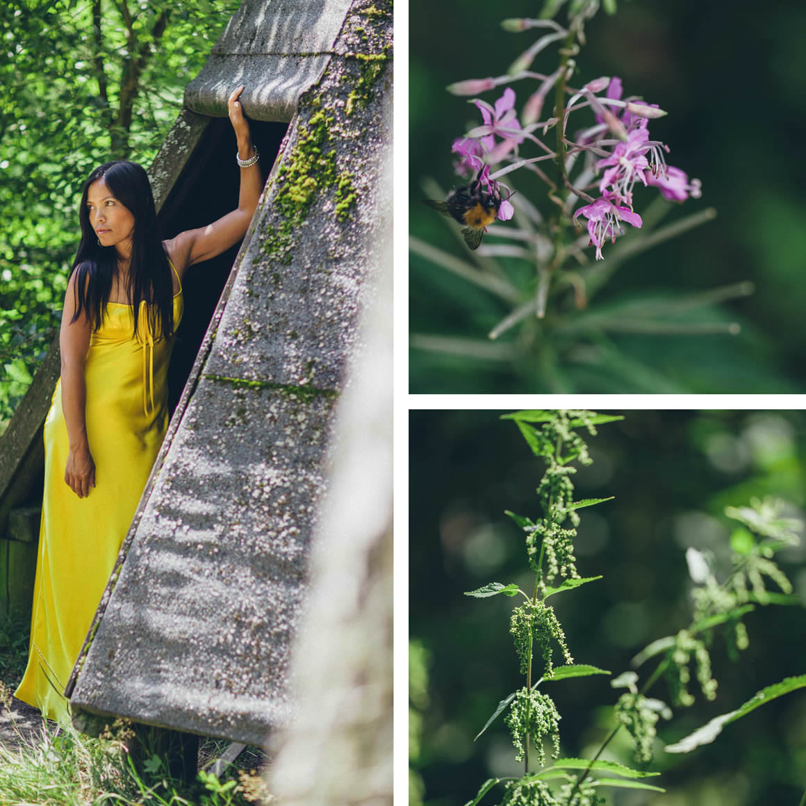 melbourne blogger as pocahontas in europe - creative forest photography