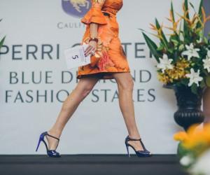 fashions on the field - racewear - racing fashion catwalk - blue diamond stakes