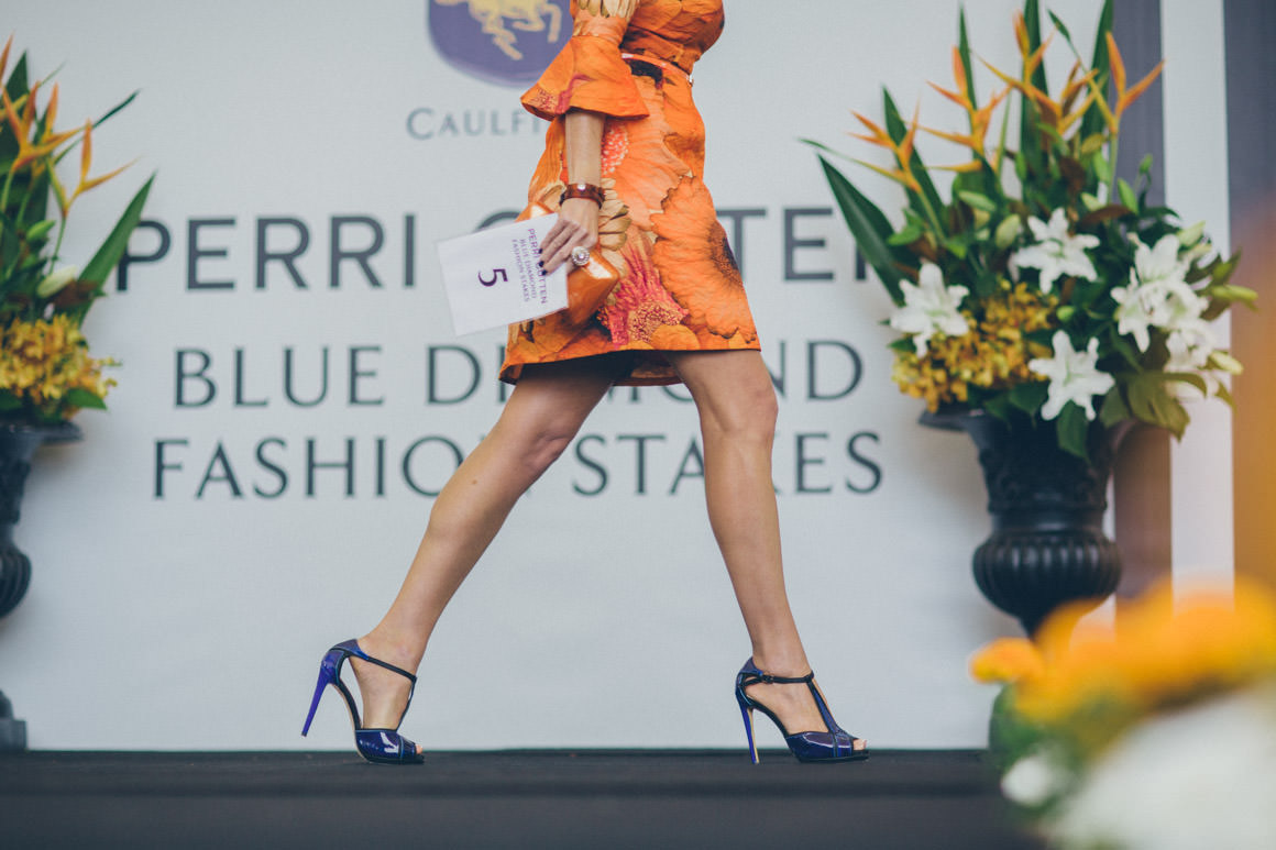 fashions on the field - racewear - racing fashion catwalk - blue diamond stakes