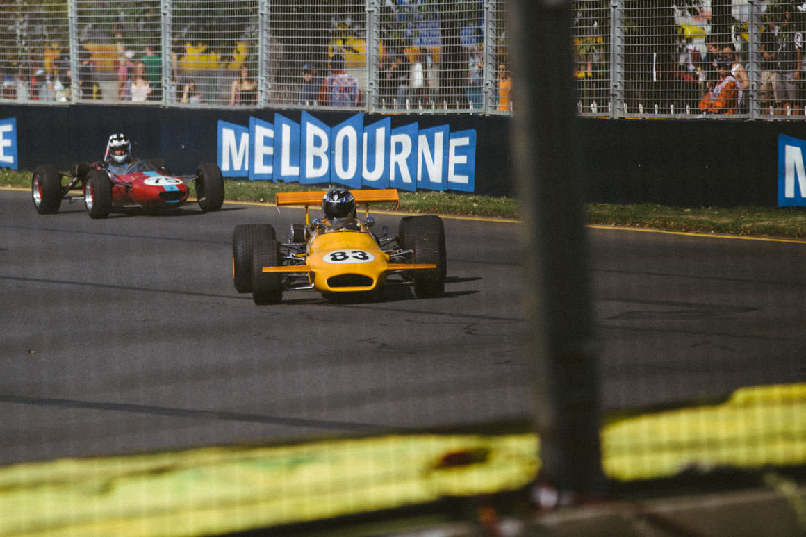 racing at the Melbourne Grand Prix