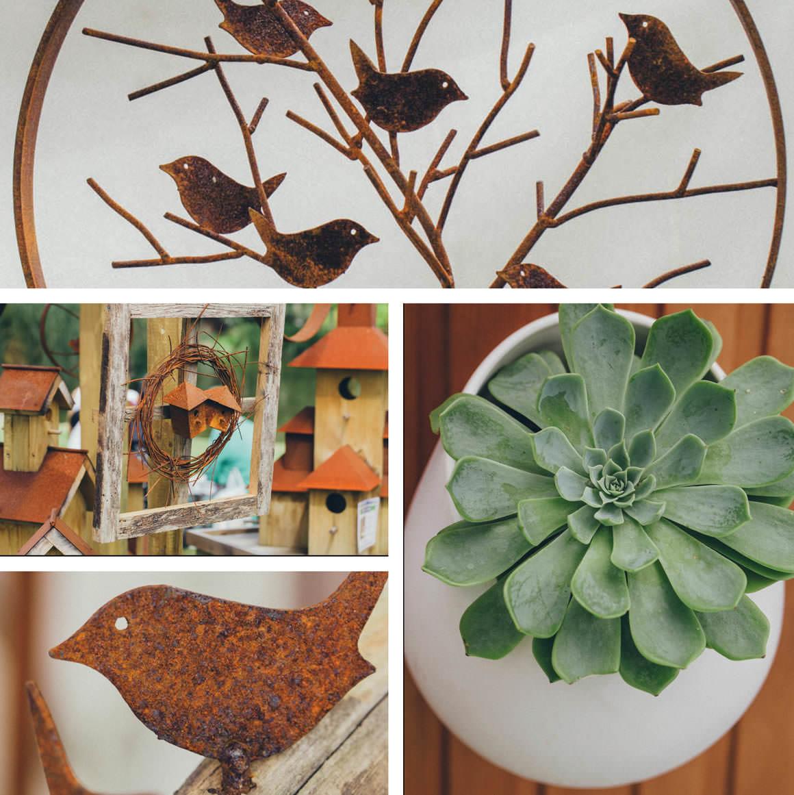 rustic garden elements