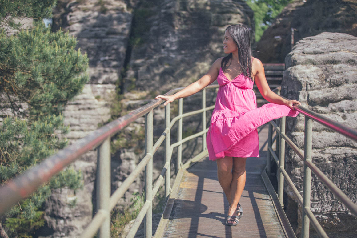 fashion blogger in dresden - melbourne travel - pink outfit