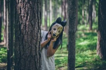 hiding behind masks - be brave - be yourself