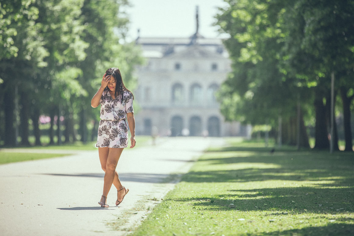 playsuit on the castle grounds - new collection by H&M Melbourne, Australia - 2014/2015