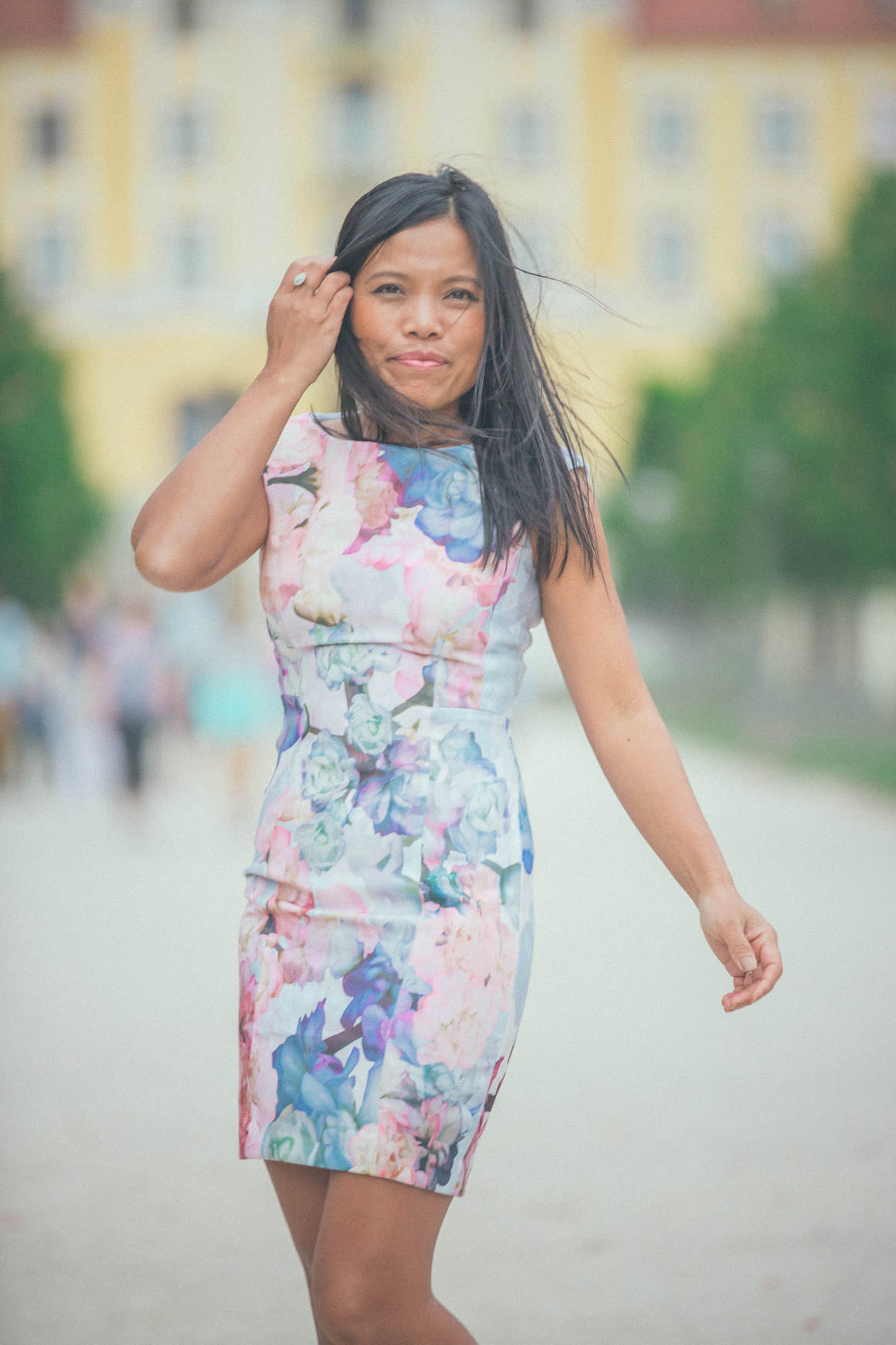 summer dress - floral body con dress by h&m