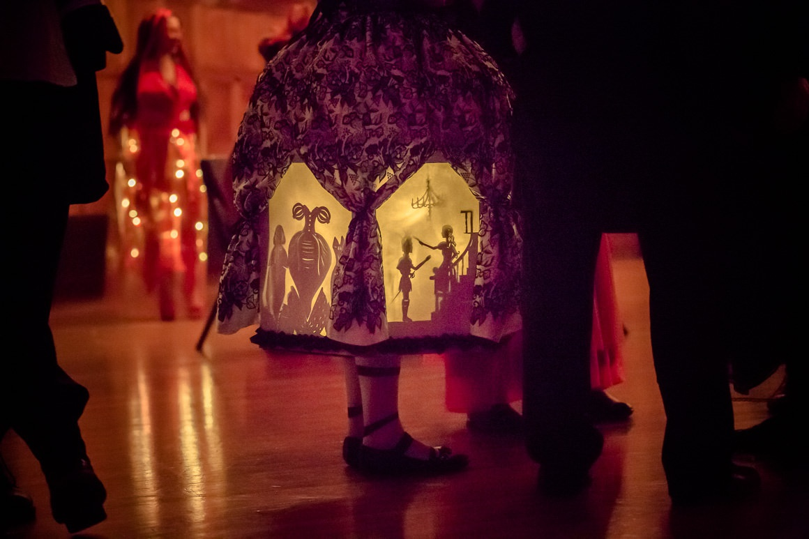 illuminated dress with story