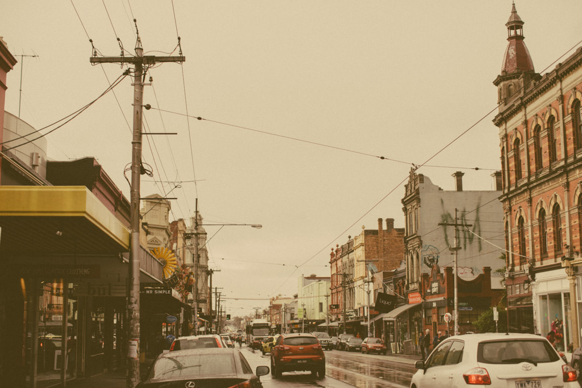 Fitzroy street in melbourne - typical