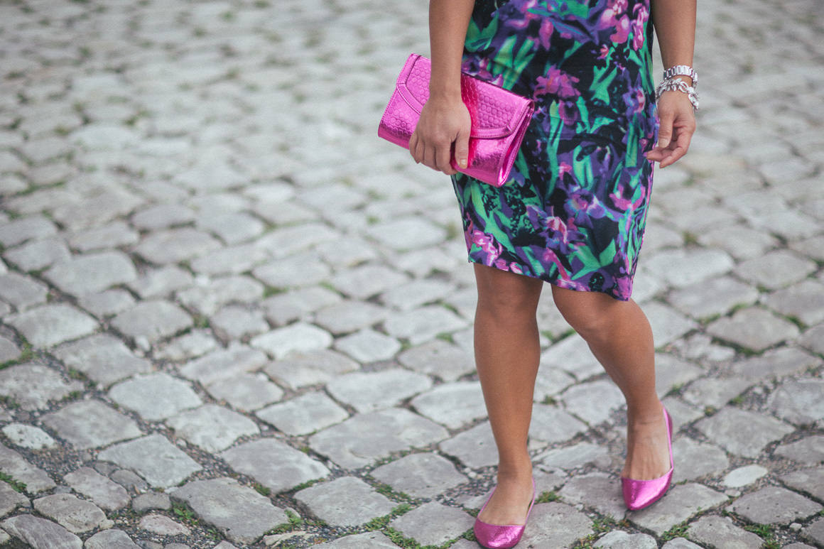 cobblestone - flat pink shoes