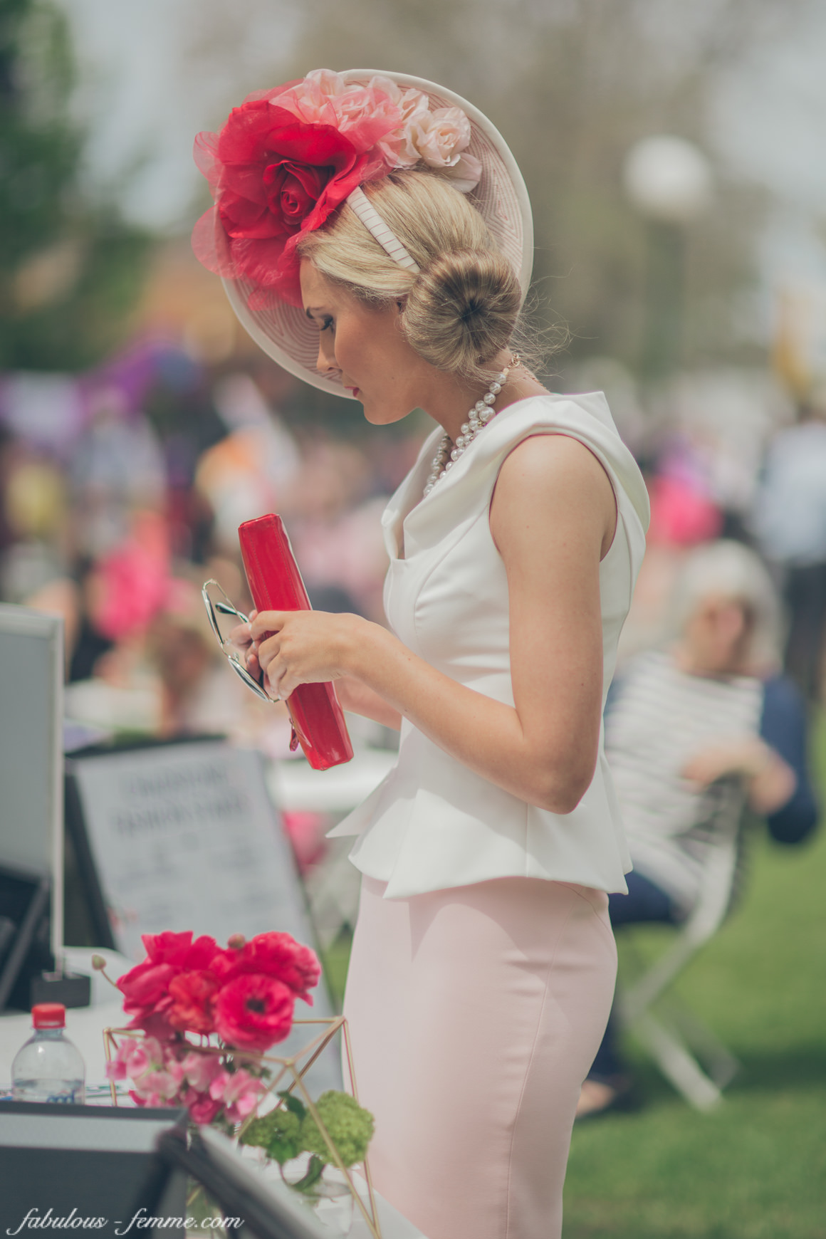 entering the fashions on the field in 2014 at Caulfield