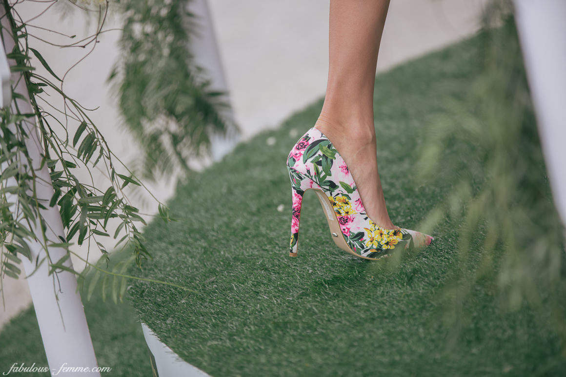 floral shoes at spring racing