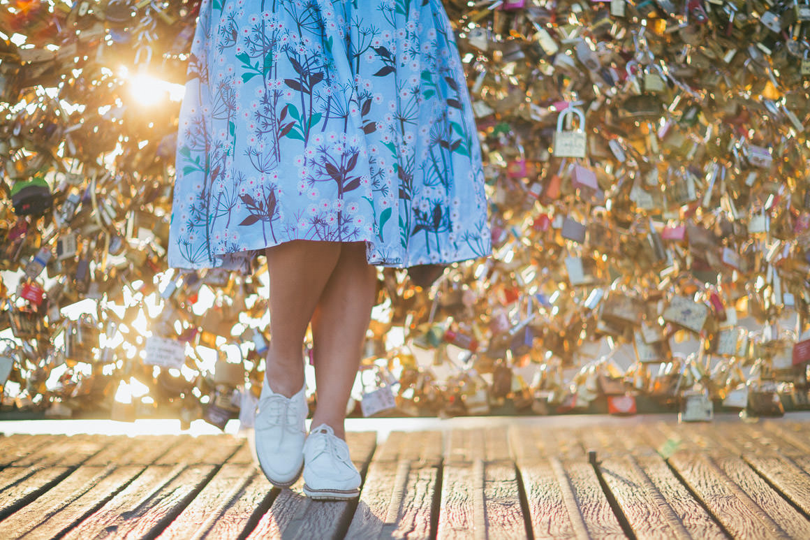 girl at pont des arts - creative picture