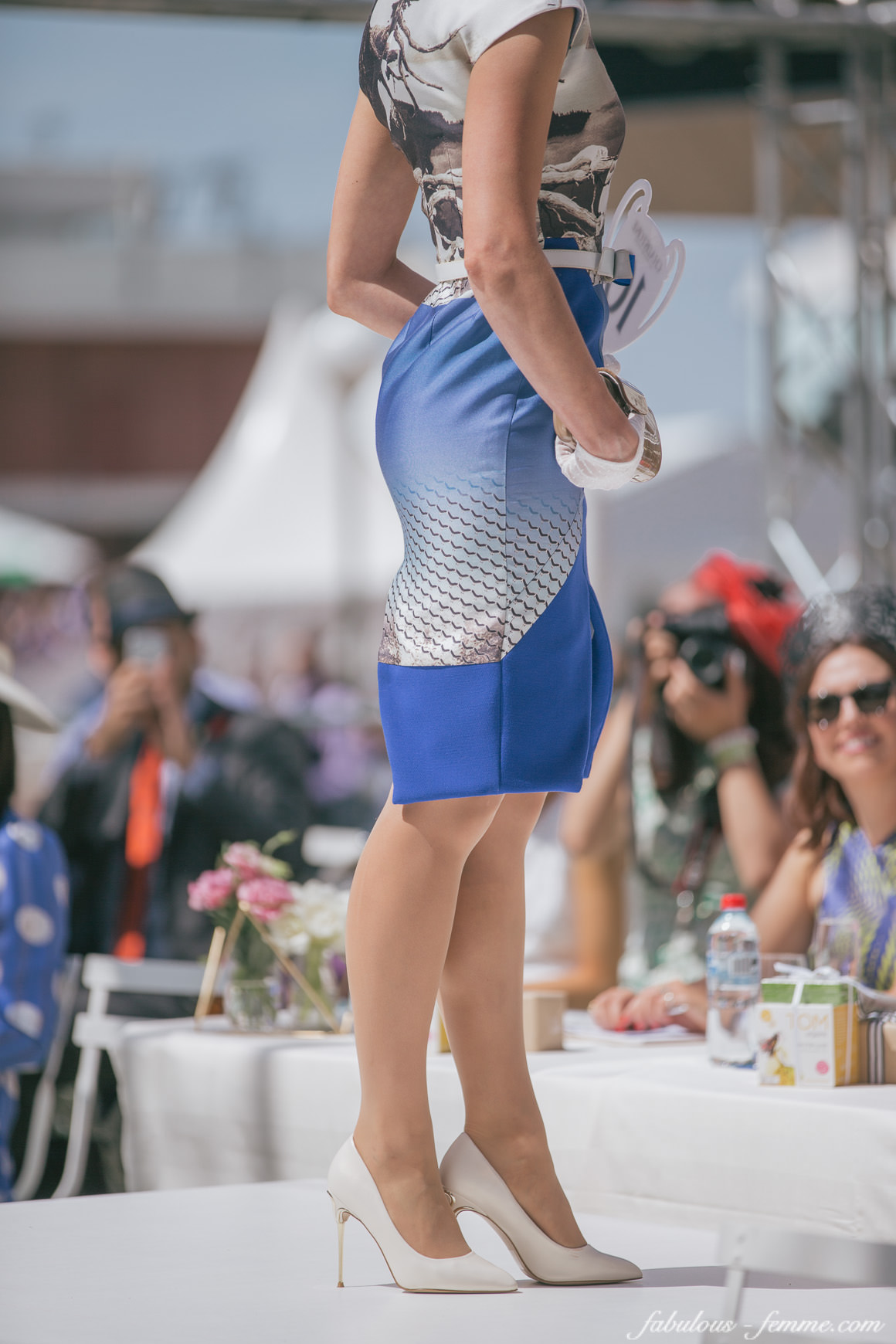 blue skirt for racingfashion in melbourne