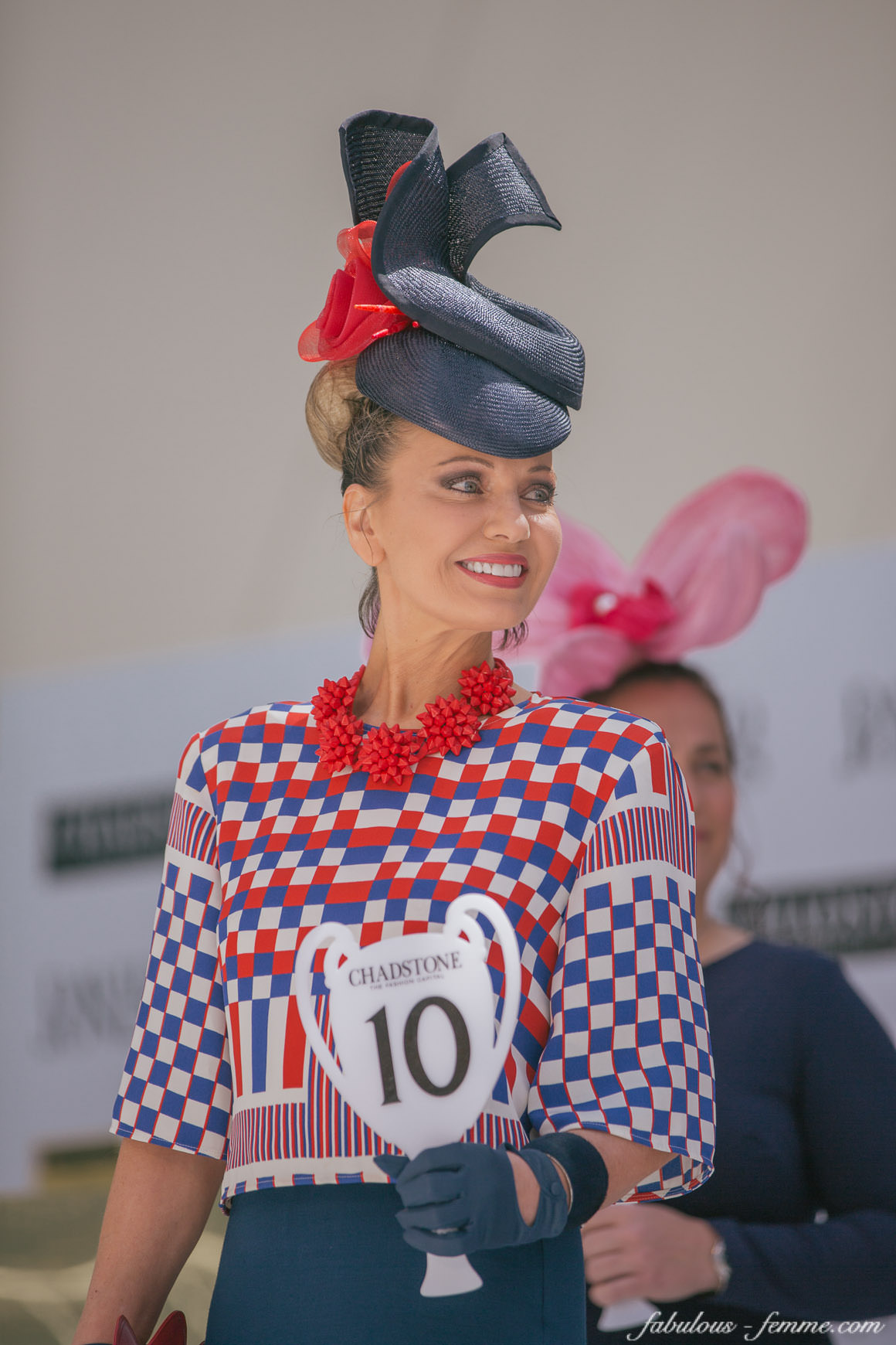 Lisa Wellings - Winner of the Fashions on the Field 2014 at Caulfield Guineas Day (40+ Stylish Ladies)