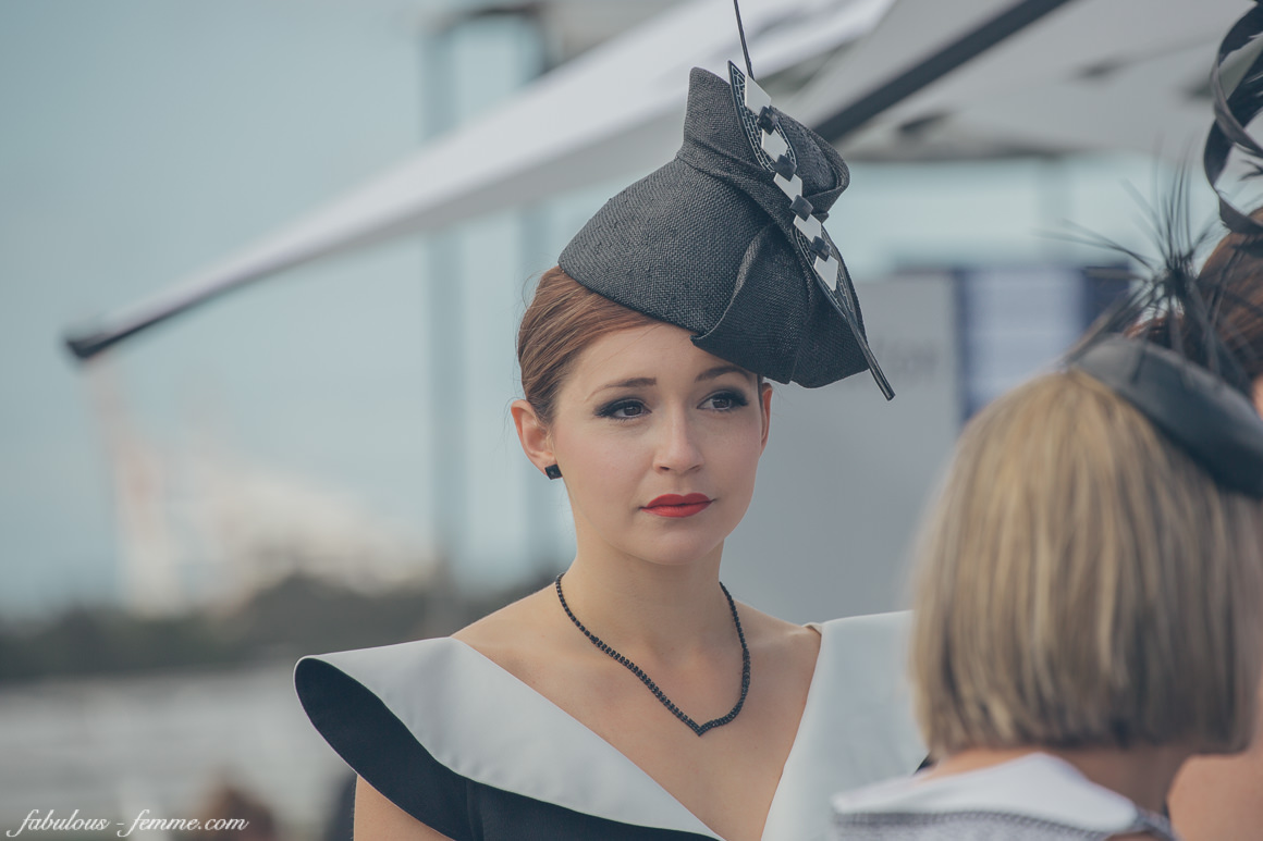 derby day - fashion in black and white