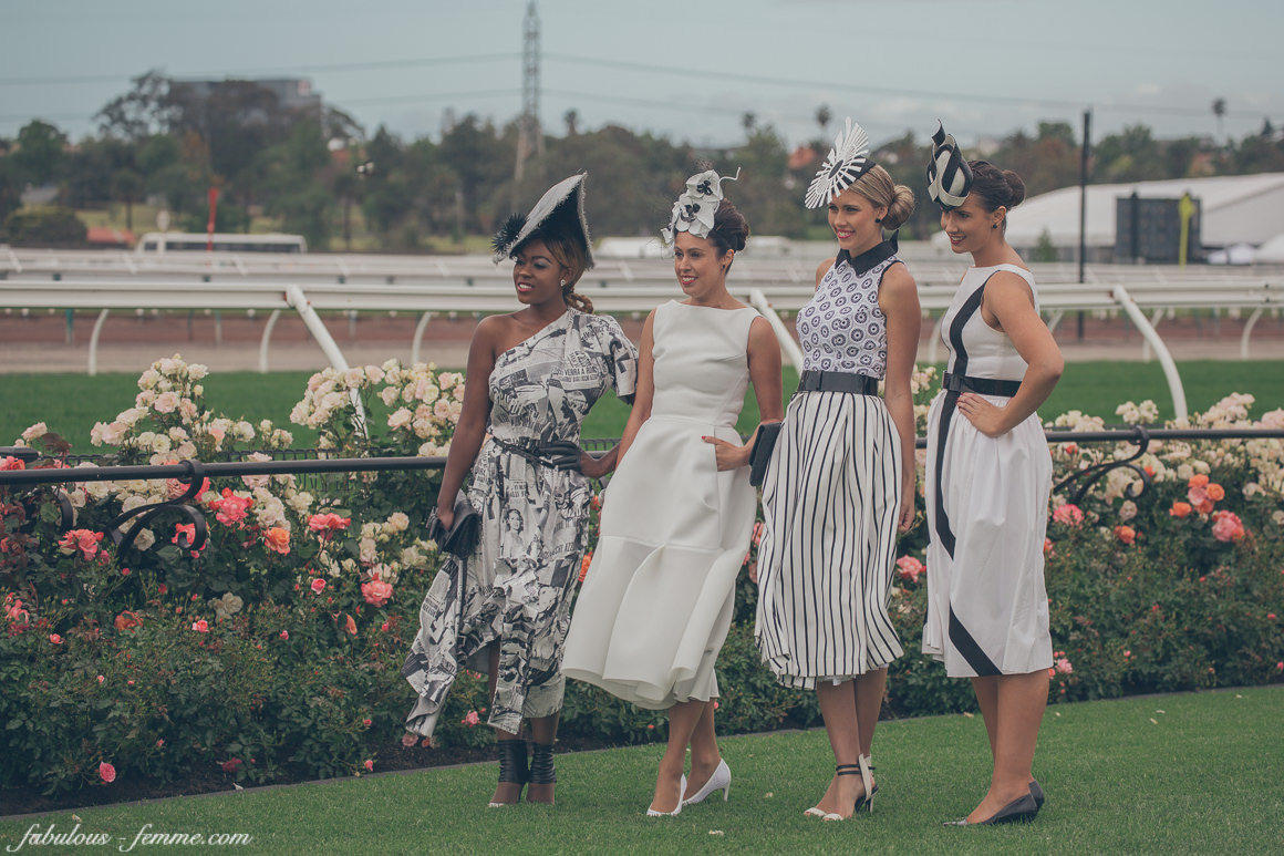 girls at the racetrack - melbourne spring racing carnival 2014