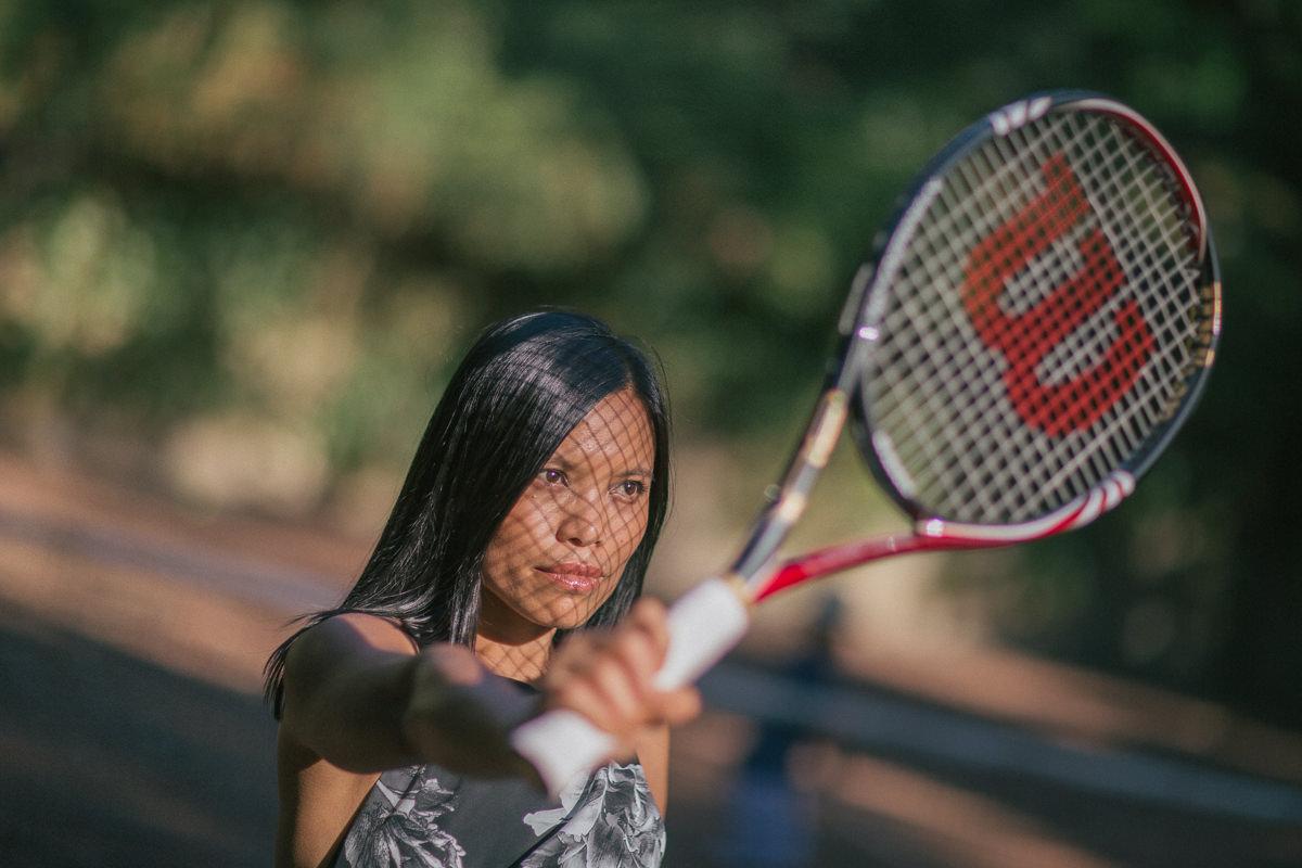 wilson tennis racket - sun
