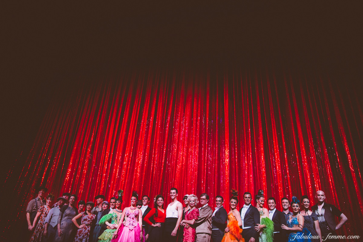 cast of strictly ballroom on stage