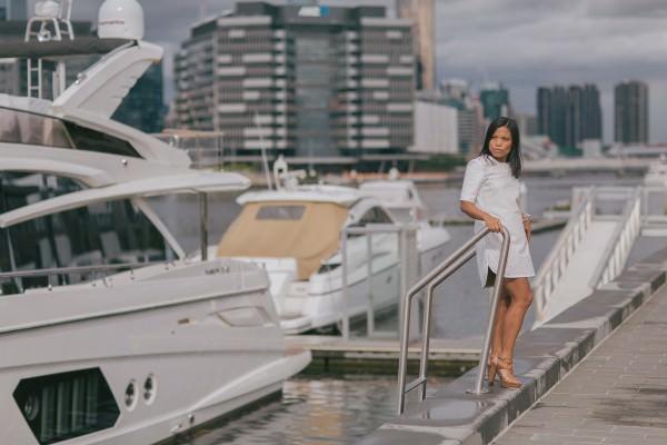 yacht photoshoot melbourne - wedding venue