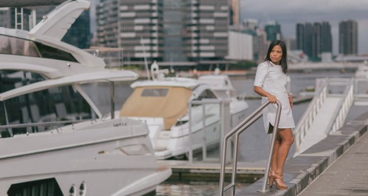 yacht photoshoot melbourne - wedding venue