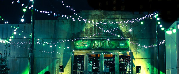 Entrance of the Absinthe Spiegeltent on the Crown Rooftop in Melbourne