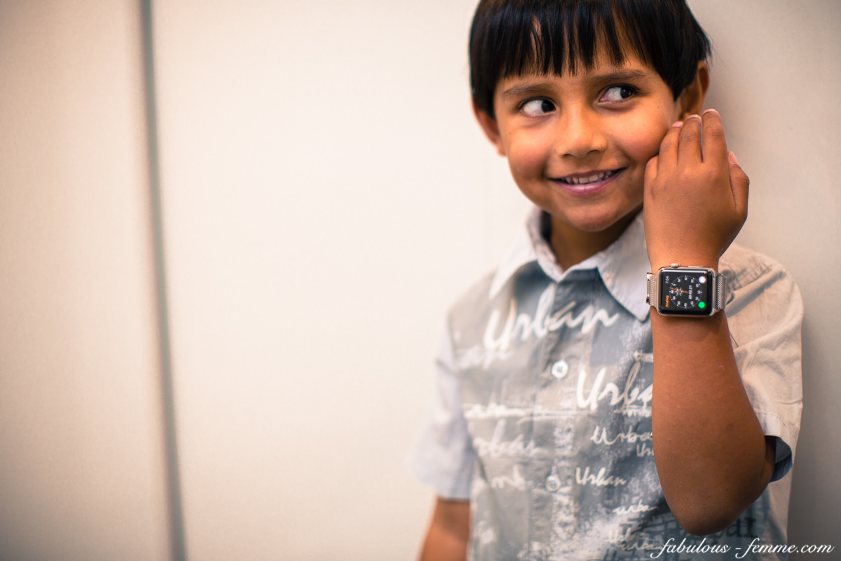 kid got apple watch on release day - spoilt