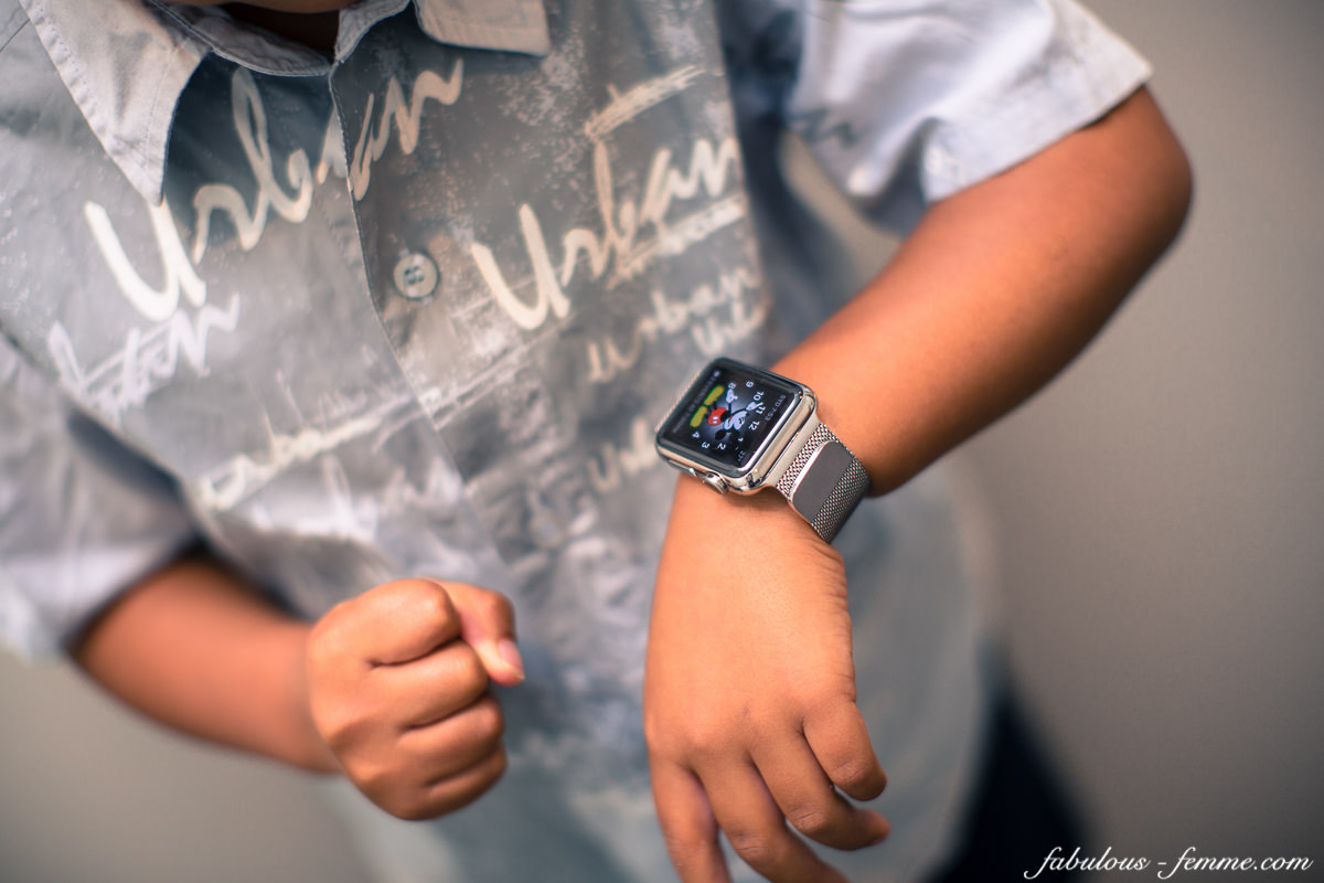 apple watch on kids wrist - expensive toy - apple watch