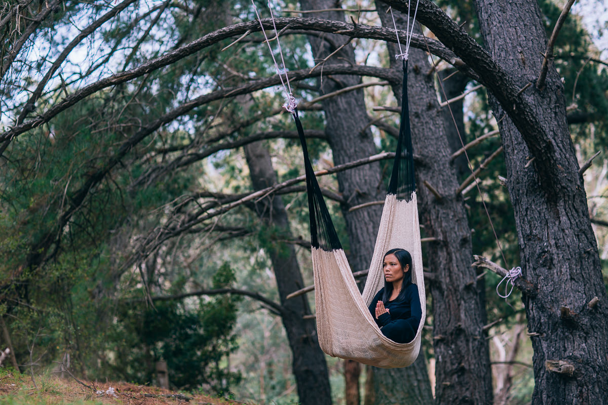 high in the treetops - yoga practice
