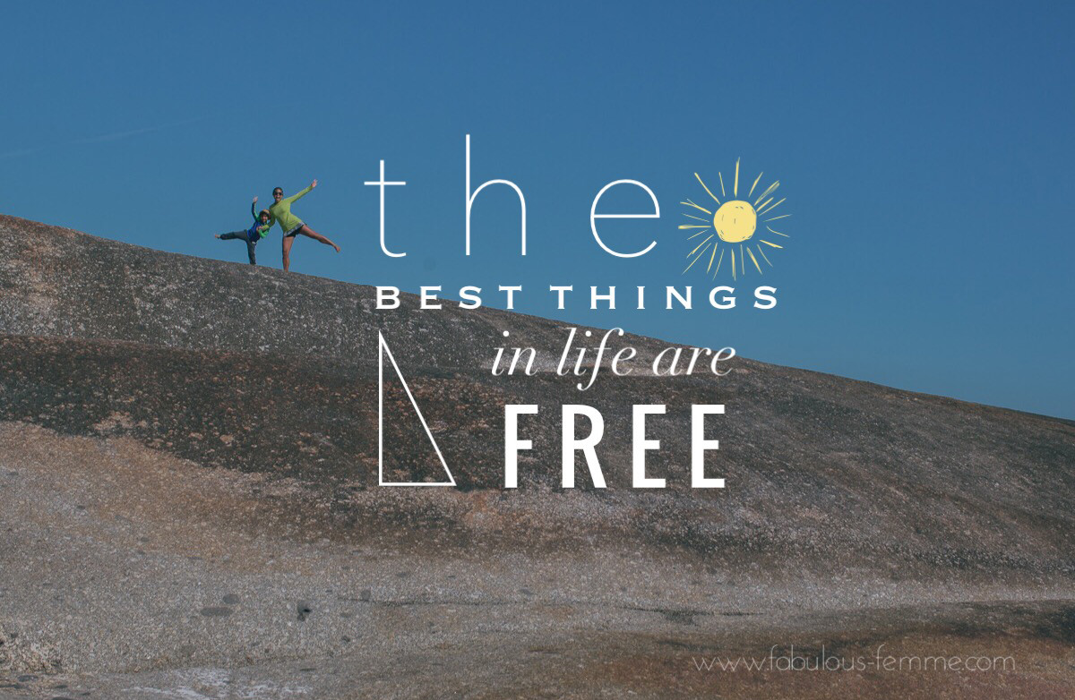 Quote - best things in life are free
