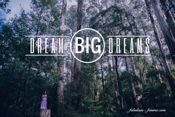 quote - dream big dreams - forest