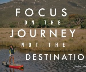 Quote - Focus on the journey not the destination - Travel Quote