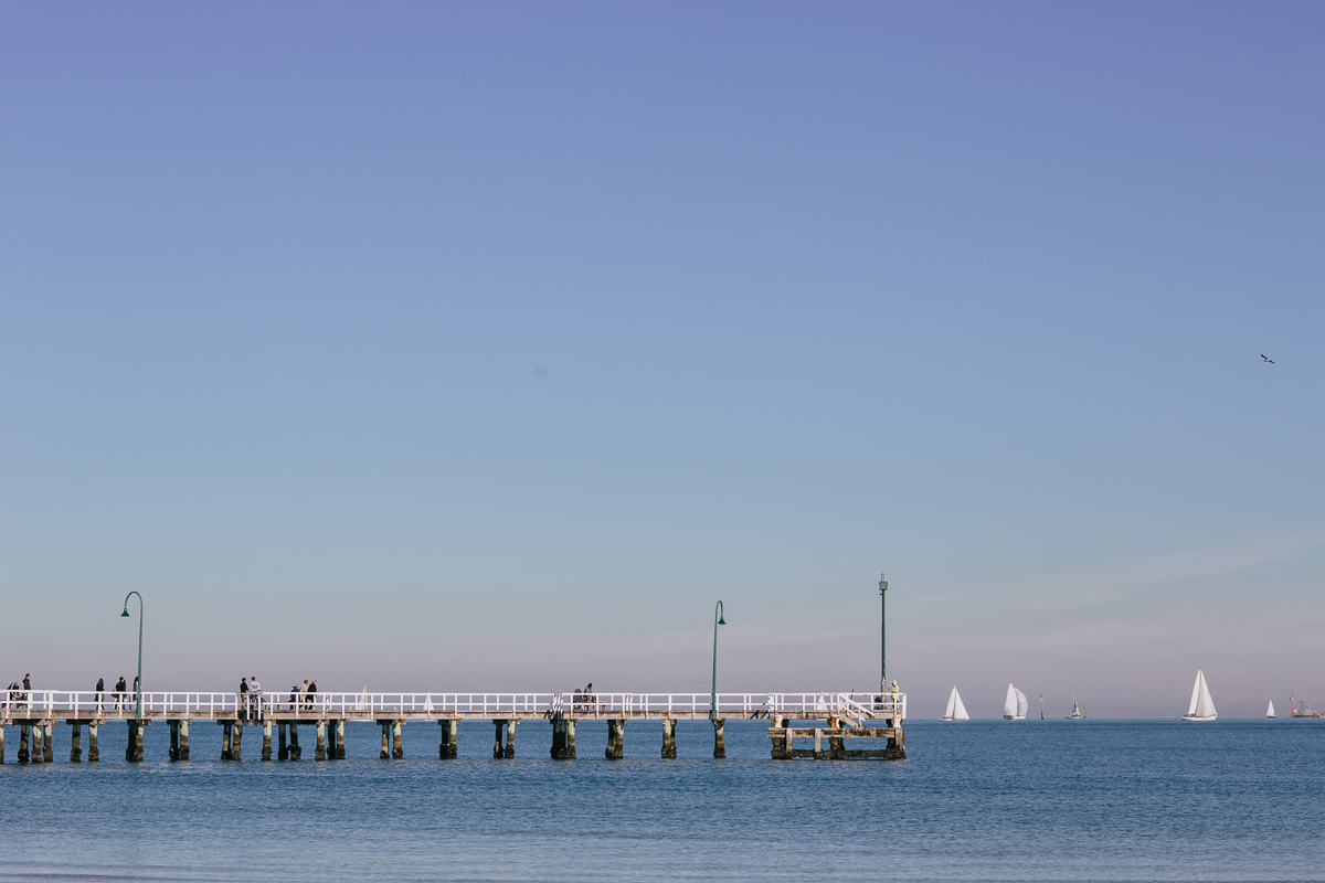 pier in melbourne - blue sky