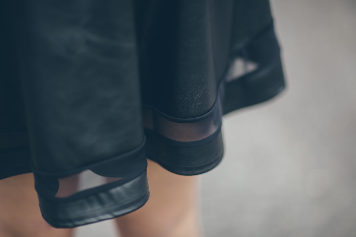 black stylish skirt