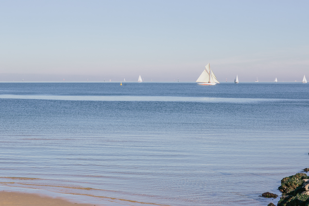 sailing boats on the bay in melbourne
