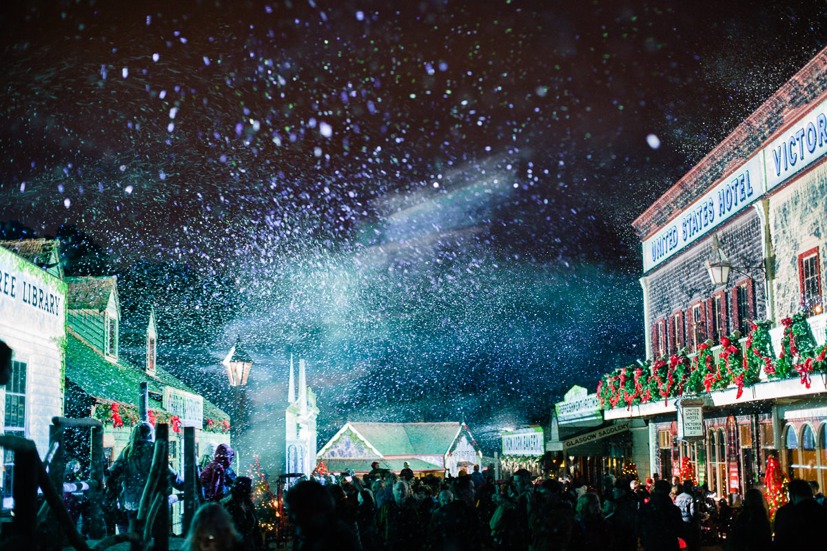 faux fake snow - Sovereign hill Christmas in July