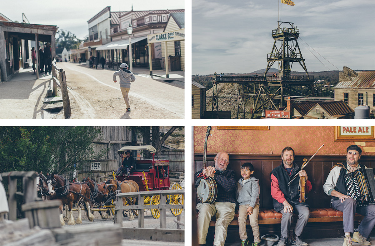 sovereign hill day trip - gold mine - best travel in melbourne
