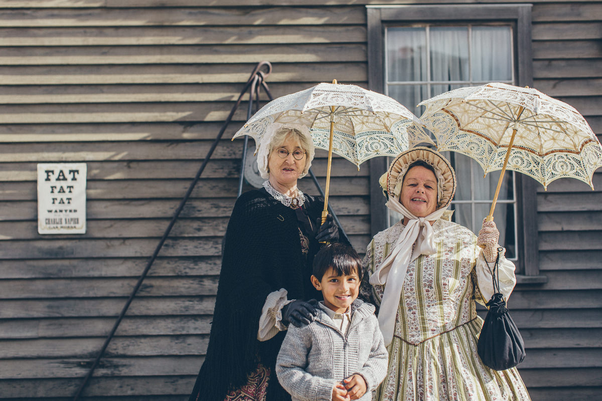 vintage dresses at sovereign hill - travel back