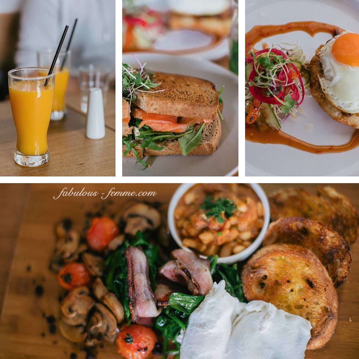 brunch menu - creative and yummy - one of the best in Melbourne