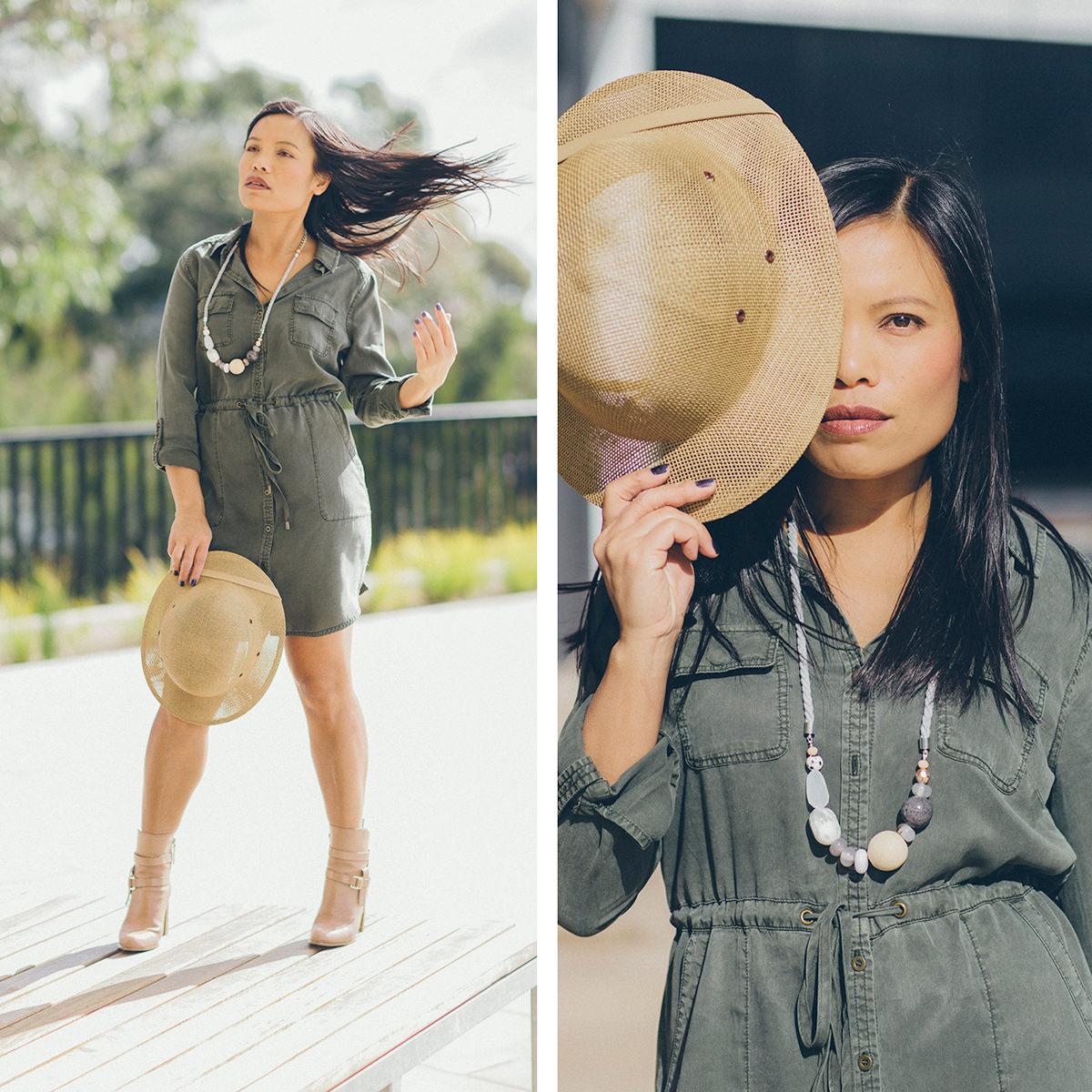 safari city outfits khaki dress by jeans west