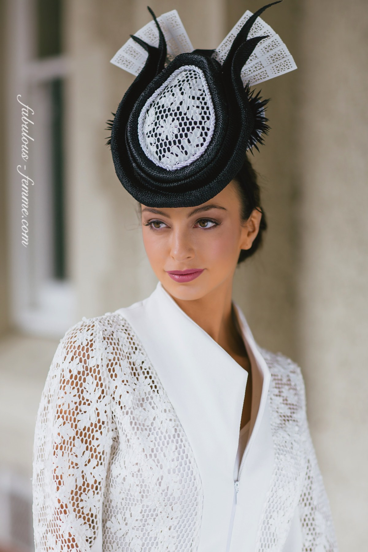 best hats 2015 for the melbourne spring racing - derby day outfit by Alannah Hill and LisaAlexanderDesign Milliner