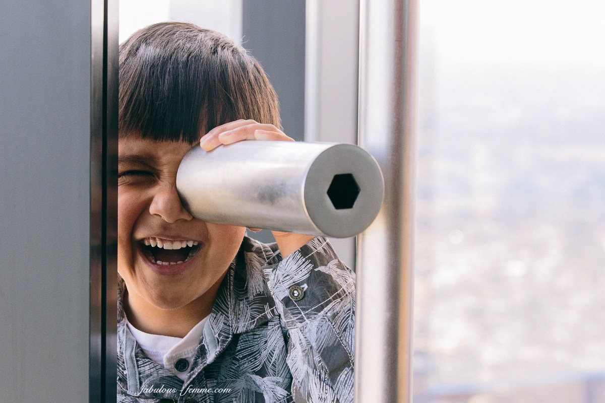 kids fun on the Melbourne Observation Deck on Eureka Tower