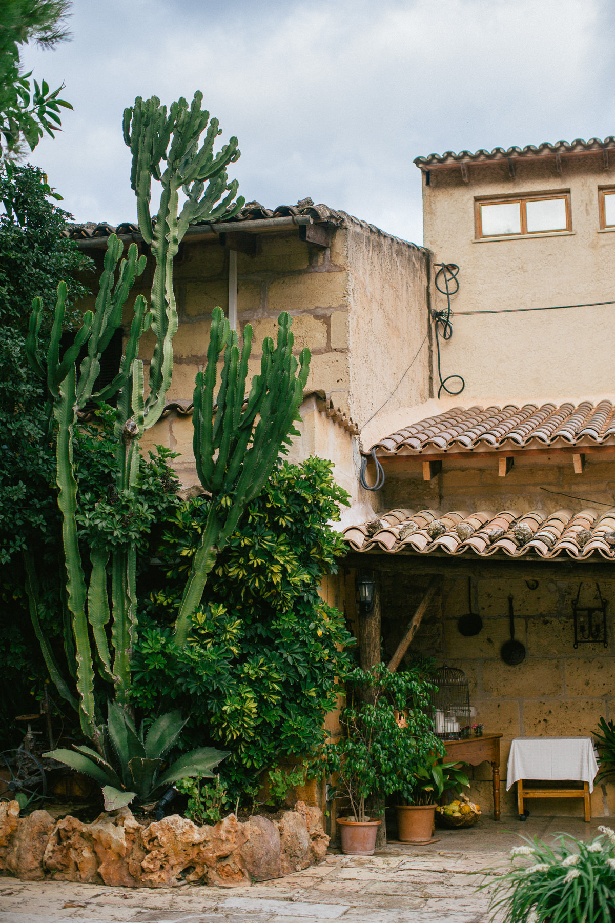 old typical buildings in mallorca - spanish finca style